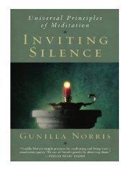 Inviting Silence Universal Principles Of Meditation