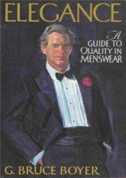 Boyer: Elegance - Guide to Quality in Menswear (Gb Boyer)