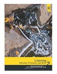 Listening Attitudes, Principles, and Skills