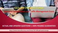 Citrix 1Y0-240 Exam Questions - Pass 1Y0-240 Exam in First Attempt