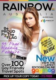Rainbow Flag Victoria January 19