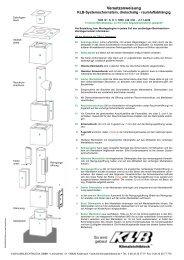 Versetzanweisung KLB-Systemschornstein, dreischalig