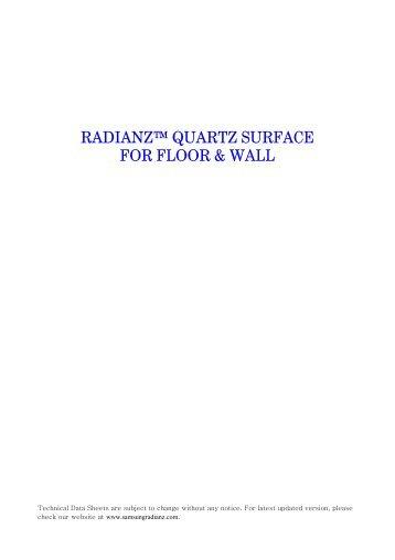 RADIANZ™ QUARTZ SURFACE FOR FLOOR & WALL