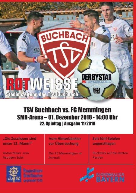 Stadionzeitung TSV Buchbach - FC Memmingen
