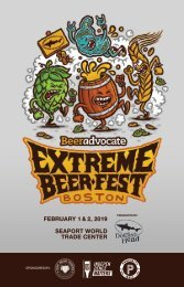 Guide to the Extreme Beer Fest (Boston 2019) hosted by BeerAdvocate