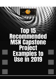 Top 15 Recommended MSN Capstone Project Examples to Use in 2019