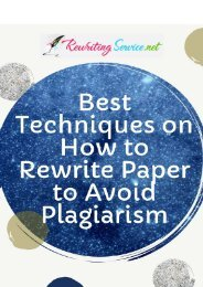 Best Techniques on How to Rewrite Paper to Avoid Plagiarism