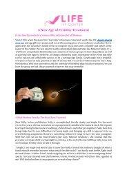 A New Age of Fertility Treatment