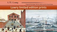 Lowry Limited Edition Prints Presents Excellent Lithograph