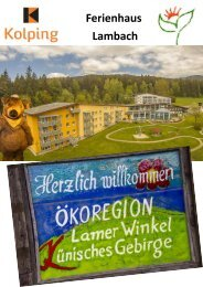 Kolping Ferienhaus Lambach Magazin
