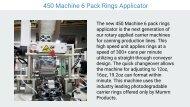 450 Machine 6 Pack Rings Applicator