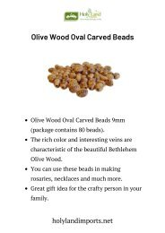 Olive Wood Oval Carved Beads
