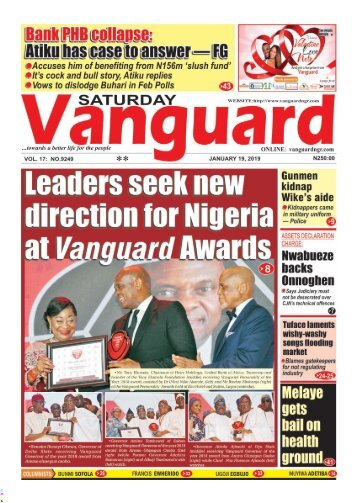 19012019 - Leaders seek new direction for Nigeria at Vanguard Awards