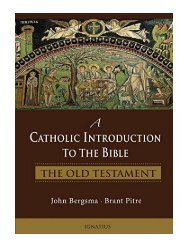 A Catholic Introduction to the Bible The Old Testament