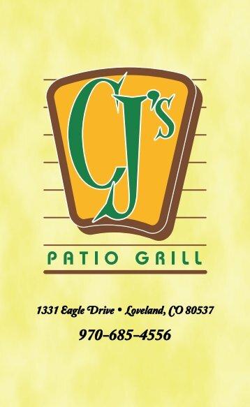 CJ's Patio Grill - MENU