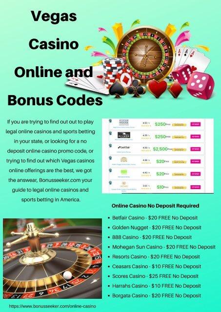 Vegas Casino Online And Bonus Codes
