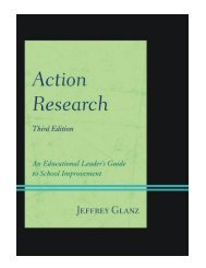 Action Research An Educational Leader's Guide to School Improvement, Third