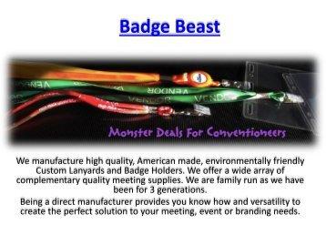 Custom Horizontal Badge Ribbons
