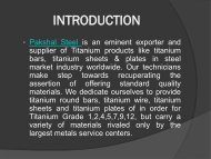 Pioneer Supplier, Exporter, Stockist of Titanium Products