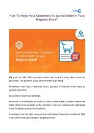 How To Allow Your Customers To Cancel Order In Your Magento Store_