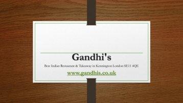 Gandhi's | Indian restaurant in SE11