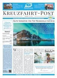 EURESAreisen Kreuzfahrt Post - Ausgabe 01/2019