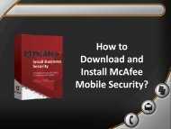 How to Download and Install McAfee Mobile Security?