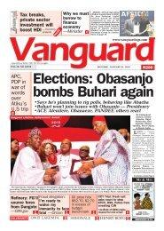 21012019 - Elections Obasanjo bombs Buhari again