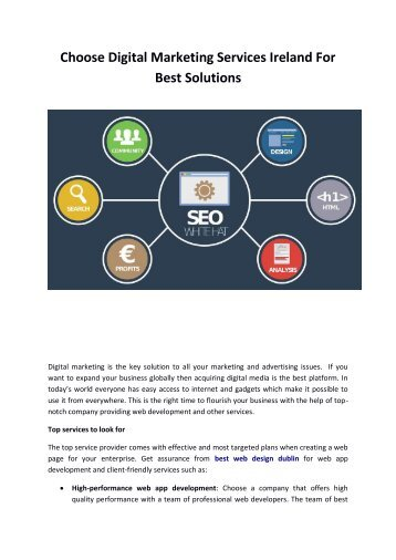 Choose Digital Marketing Services Ireland For Best Solutions