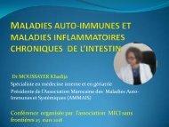 MALADIES AUTO-IMMUNES : conférence à l'association marocaine des MICI sans frontières