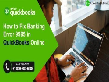Fix banking error 9995 in QuickBooks Online