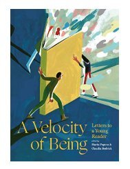 A Velocity of Being Letters to a Young Reader