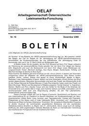 Boletín 19 (2008) - Lateinamerikaforschung Austria