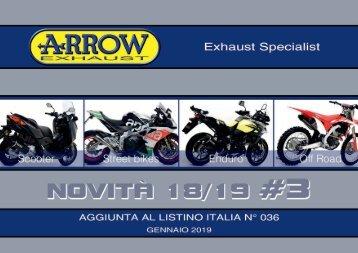 Arrow - nuovi prodotti Gennaio 2019