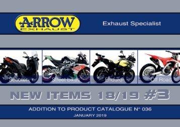 Arrow - New items January 2019