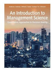 An Introduction to Management Science Quantitative Approaches to Decision M