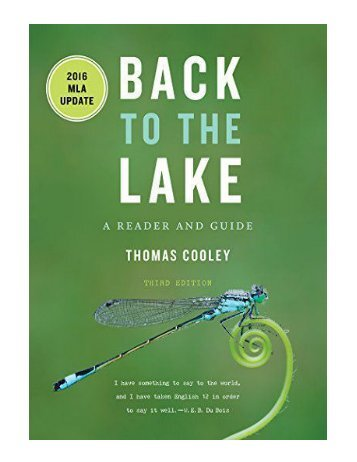 Back to the Lake A Reader and Guide 2016 MLA Update