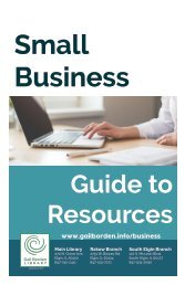 Small Business Guide to Resources