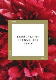 February at Devonshire Club