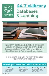 eLibrary Databases and Learning Brochure