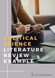 Political Science Literature Review Example