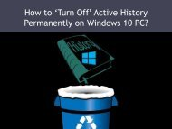 How to 'Turn Off' Active History Permanently on Windows 10 PC