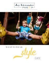 Joy Alexander Photography - Style Guide