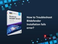 How to troubleshoot Bitdefender Installation fails Error