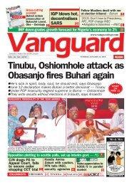 22012019 - Tinubu, Oshiomhole attack as Obasanjo fires Buhari again