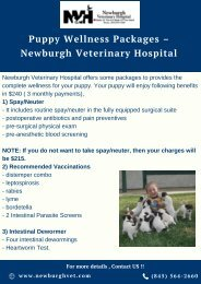 Puppy Wellness Packages – Newburgh Veterinary Hospital