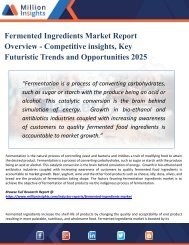 Fermented Ingredients Market Growth, Market Share, Demand, Research, Sales, Trends, Supply, and Forecast from 2025