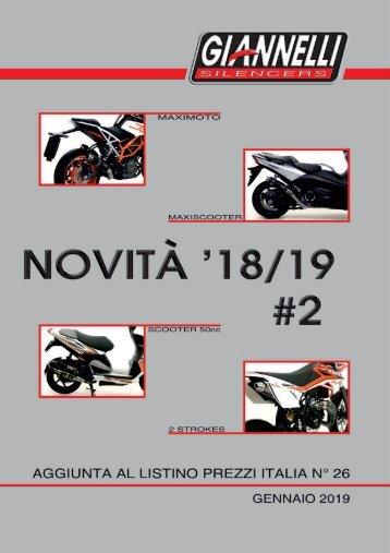 Giannelli - Nuovi Prodotti - Gennaio 2019