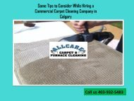 Some Tips to Consider While Hiring a Commercial Carpet Cleaning Company in Calgary