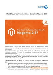 What Should We Consider While Going For Magento 2.3_